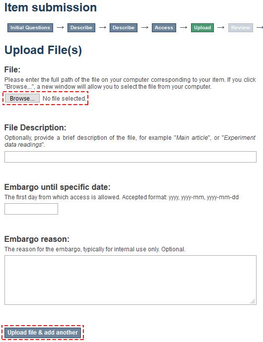ScholarWorks submission file upload