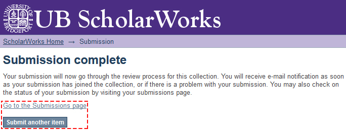 ScholarWorks submission complete