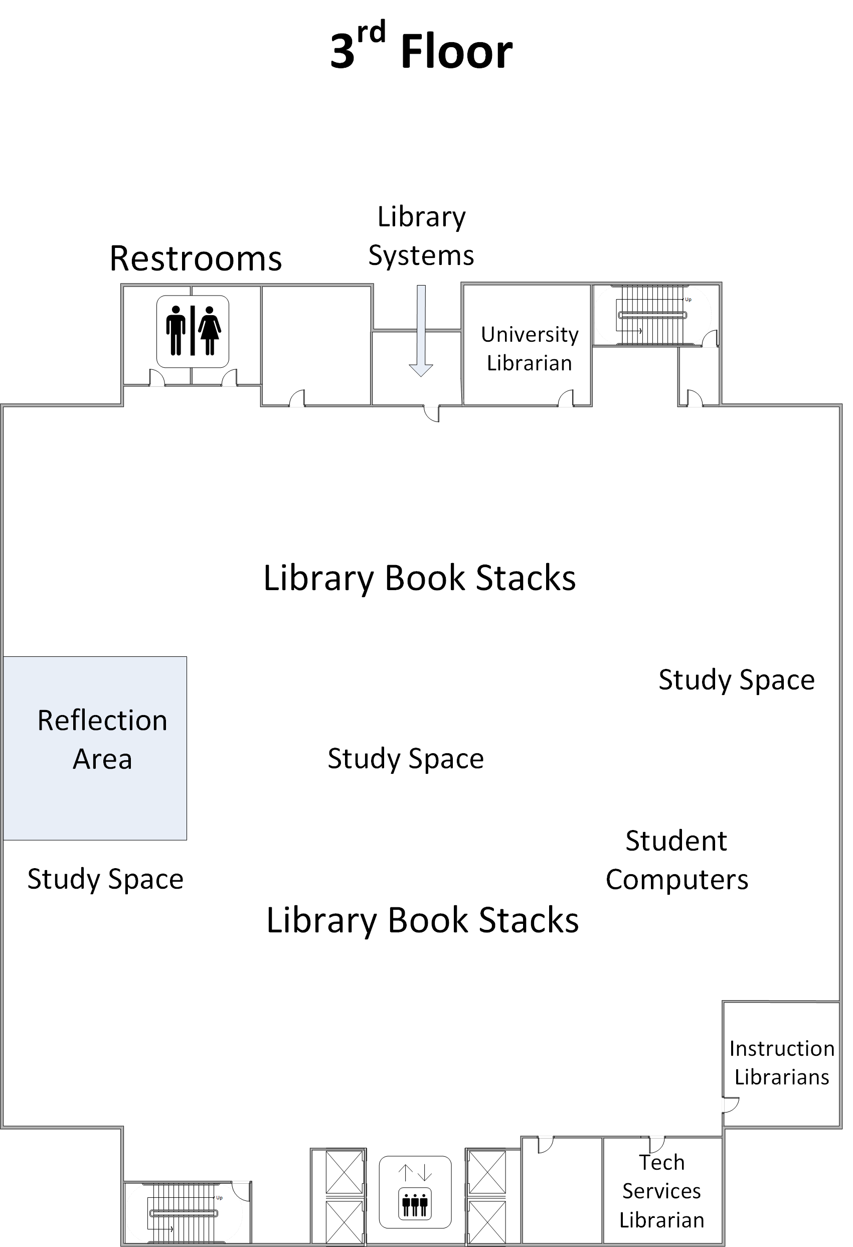 Library 3rd Floor Map