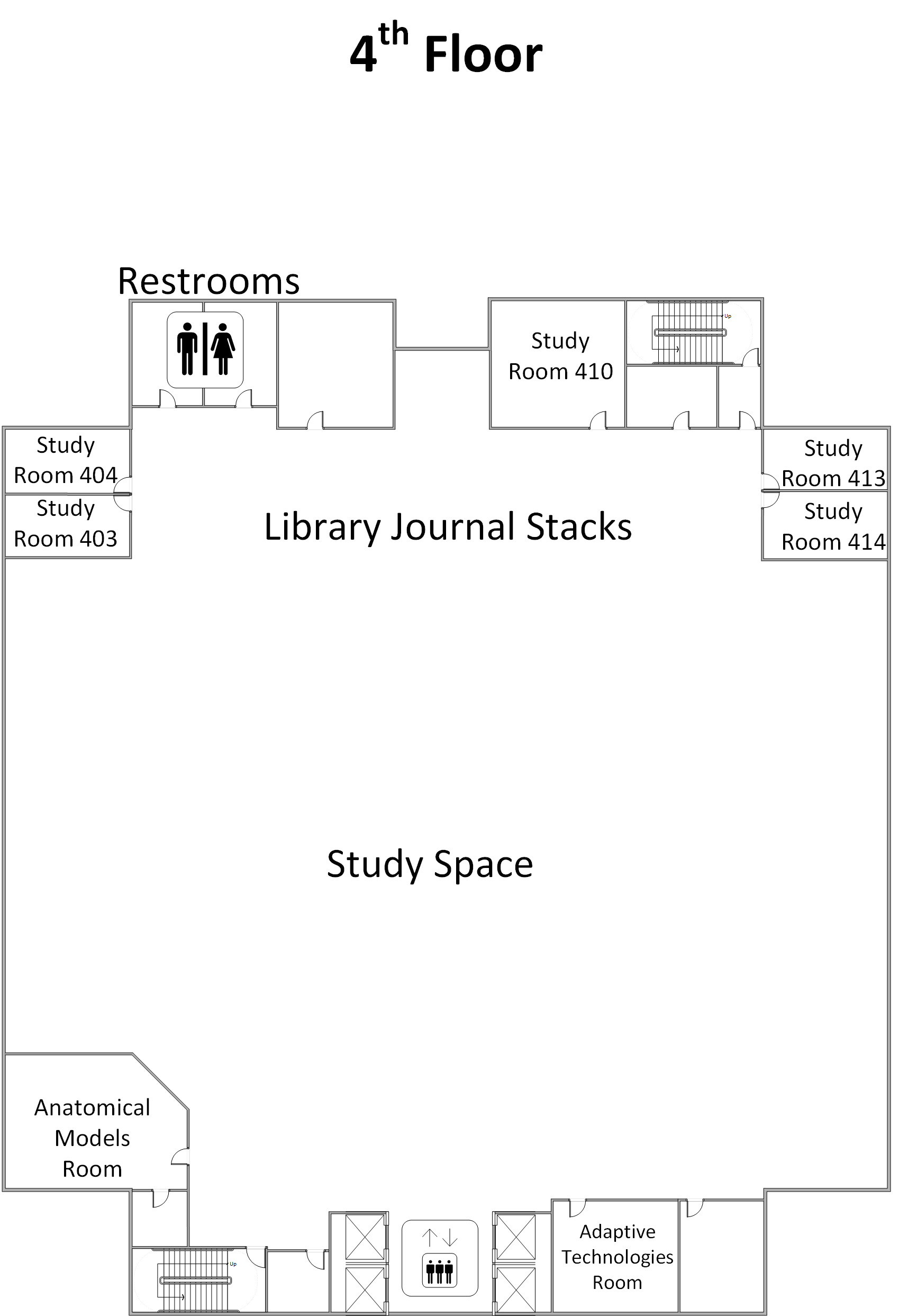 Library 4th Floor Map