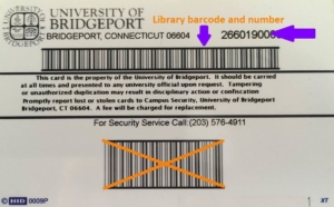 An image of where the long bardcode on your ID is located
